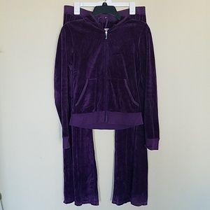 Juicy Couture purple jacket and pant set